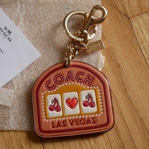 Coach Las Vegas Leather Bag Charm Keyring F35488